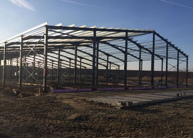 Prefabricated Steel Frame Buildings / Metal Building Frame Structure Warehouse