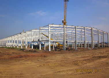 Prefabricated Workshop Buildings / Industrial Steel Frame Buildings