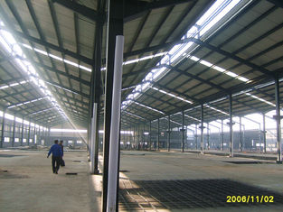 Ready Made Steel Structures Garment Factory Building / Multi Spans Metal Workshop