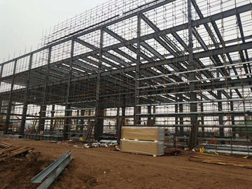 Multi Floors Structural Steel Frame Buildings High Rise Steel Structures Construction