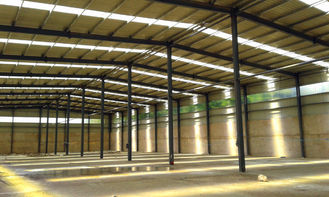 Prefab Steel Structure Construction / Warehouse Steel Frame Construction