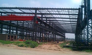 Industrial Steel Buildings / Prefabricated Steel Frame Workshop Buildings