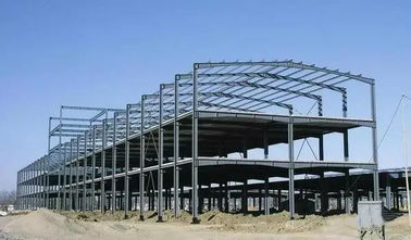 Steel Frame Building Construction Multi - story Steel Structure Warehouse