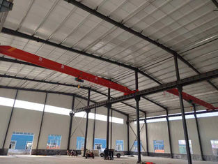 Prefab Steel Structure Building With Overhead Crane / Steel Frame Workshop Buildings