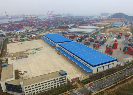 Steel Cladding Q345 Logistics Prefabricated Metal Building